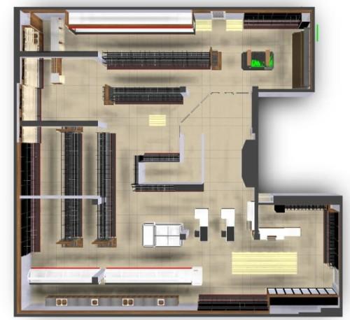 Projekt Plan Sklepu Ustawienie Mebli Na Sali Sprzedaży Layout