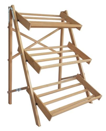 Regał Wystawowy Składany Drewniany Bukowy 3 Półki